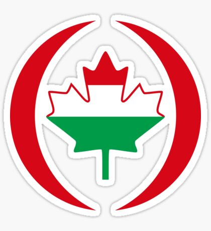 Hungarian Canadian Multinational Patriot Flag Series Sticker