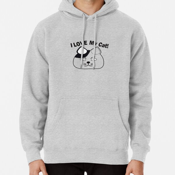 Funny Cat - Love My Cat Pullover Hoodie