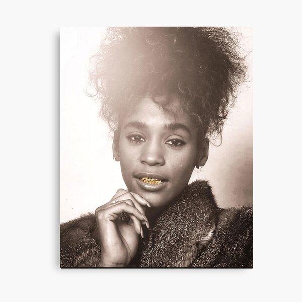 Whitney Houston dents en or Impression sur toile