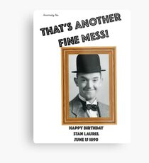 Stan Laurel Birthday Anniversary Metal Print