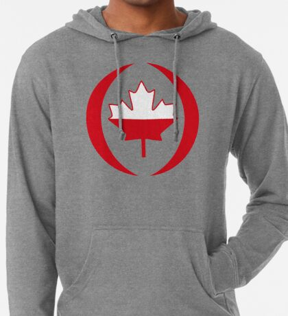 Polish Canadian Multinational Patriot Flag Series Lightweight Hoodie