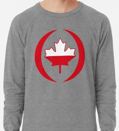 Polish Canadian Multinational Patriot Flag Series Lightweight Sweatshirt