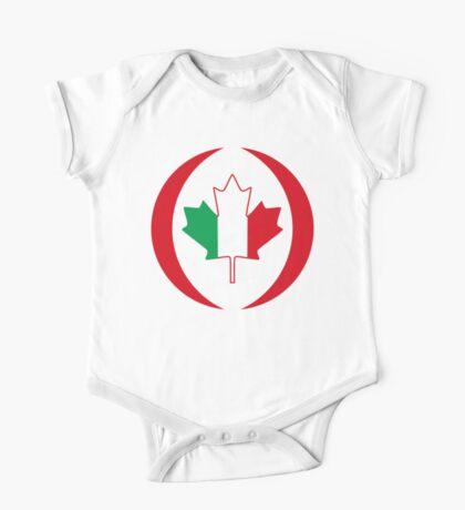 Italian Canadian Multinational Patriot Flag Series Kids Clothes