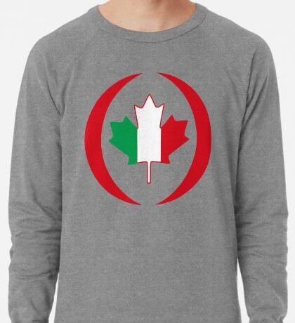 Italian Canadian Multinational Patriot Flag Series Lightweight Sweatshirt