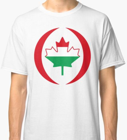 Hungarian Canadian Multinational Patriot Flag Series Classic T-Shirt