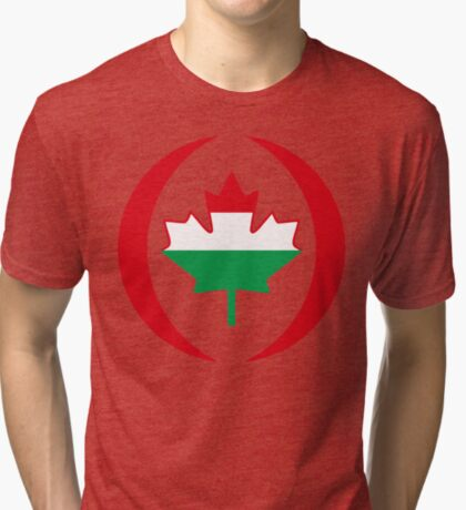 Hungarian Canadian Multinational Patriot Flag Series Tri-blend T-Shirt