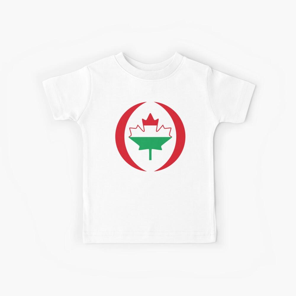 Hungarian Canadian Multinational Patriot Flag Series Kids T-Shirt