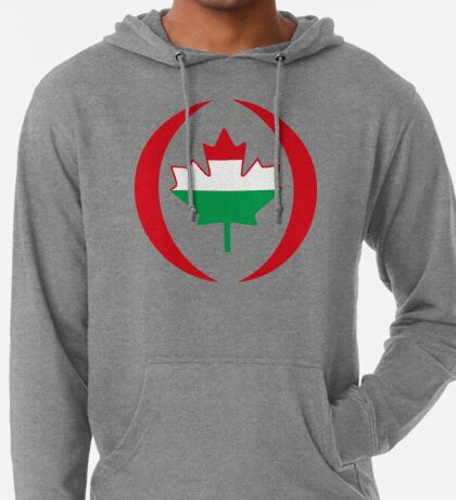 Hungarian Canadian Multinational Patriot Flag Series Lightweight Hoodie