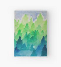 Gradient Pines Hardcover Journal