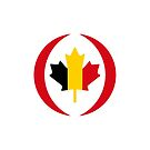 Belgian Canadian Multinational Patriot Flag Series by Carbon-Fibre Media