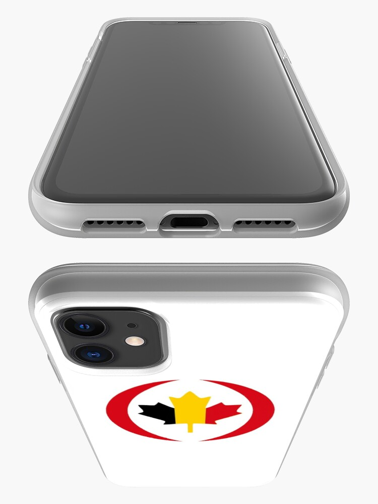 Alternate view of Belgian Canadian Multinational Patriot Flag Series iPhone Case & Cover