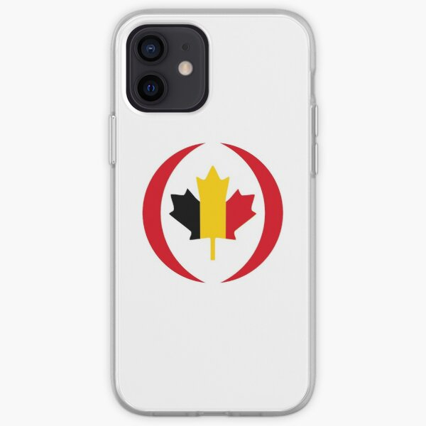 Belgian Canadian Multinational Patriot Flag Series iPhone Soft Case