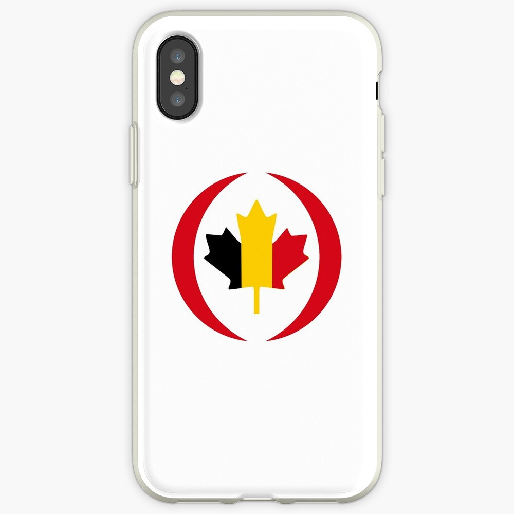 Belgian Canadian Multinational Patriot Flag Series iPhone Case & Cover