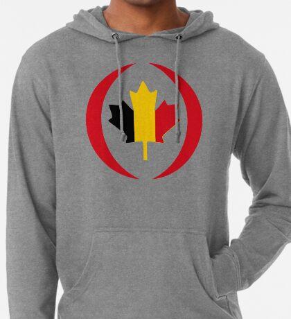 Belgian Canadian Multinational Patriot Flag Series Lightweight Hoodie