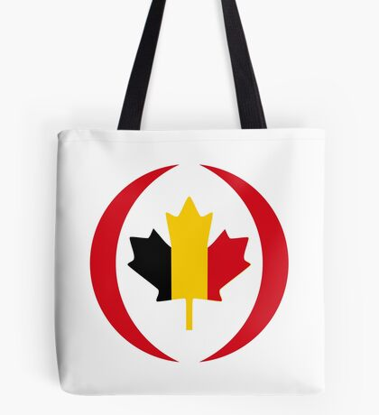 Belgian Canadian Multinational Patriot Flag Series Tote Bag