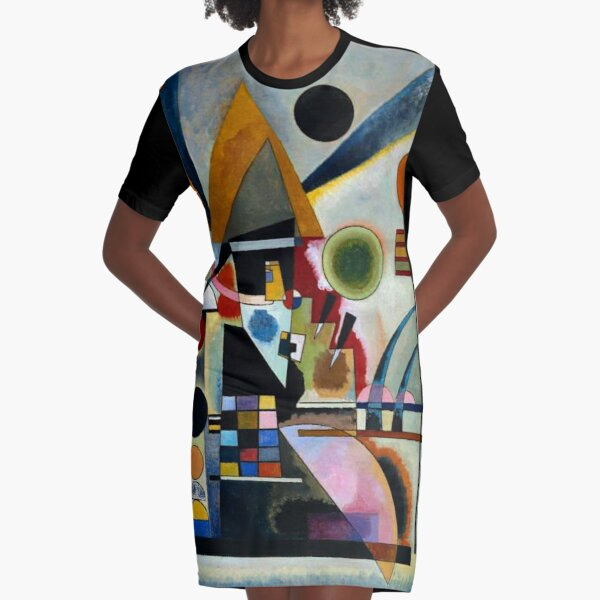 Kandinsky - Swinging, famous abstract painting Graphic T-Shirt Dress
