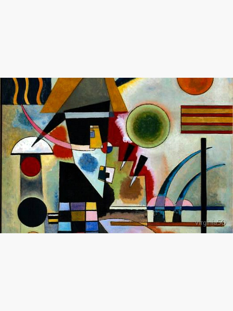 Kandinsky - Swinging, famous abstract painting by virginia50