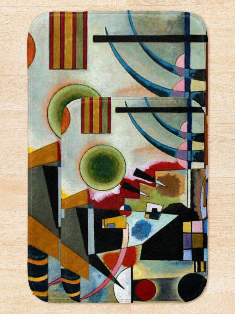 Alternate view of Kandinsky - Swinging, famous abstract painting Bath Mat