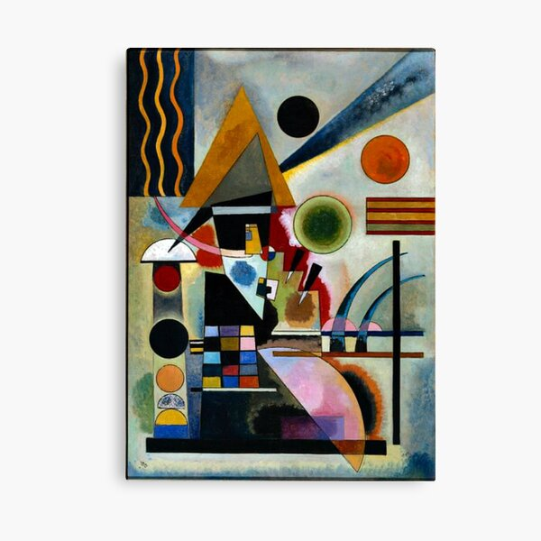Kandinsky - Swinging, famous abstract painting Canvas Print