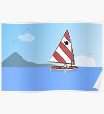 Sunfish Sailboat Poster