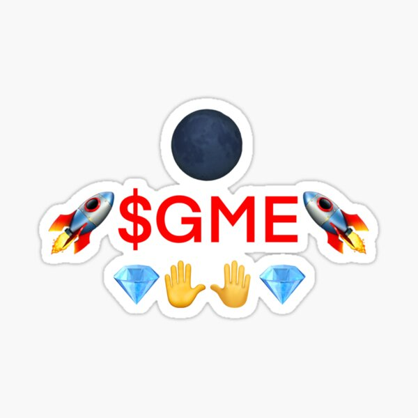 #GME to the Moon with Diamon Hands! Sticker