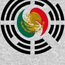 Korean Mexican Multinational Patriot Flag Series by Carbon-Fibre Media