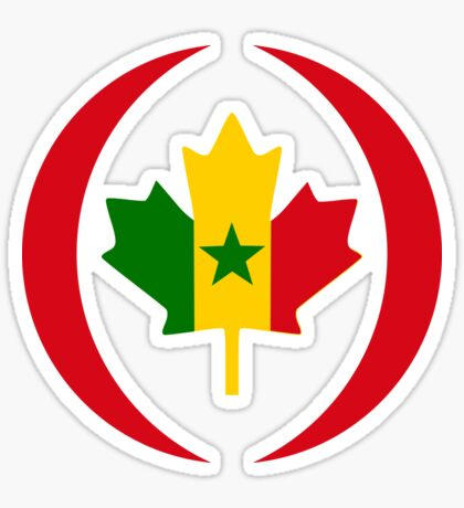 Senegalese Canadiain Multinational Patriot Flag Series Sticker
