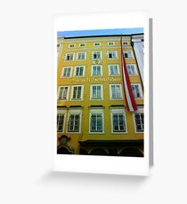 Mozart House of Birth Greeting Card