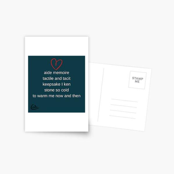 Keepsake poem Postcard