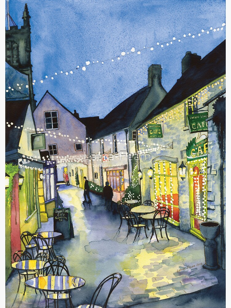 Fairy Lights at Swan Yard, Cirencester, UK  by Laura-Fearn