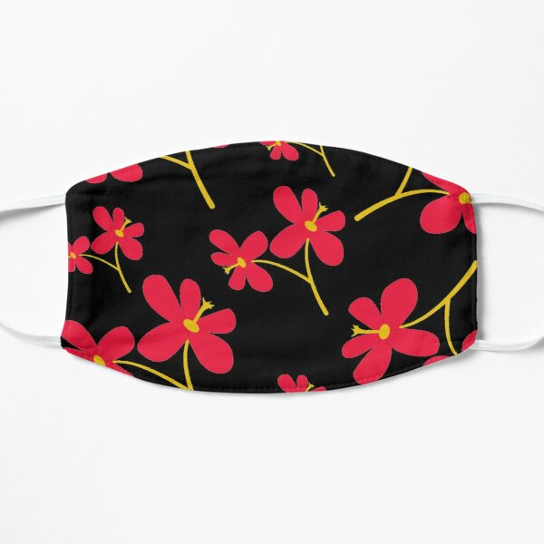 Ornamental Pattern With red Color Flat Mask