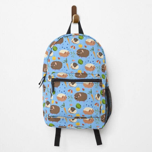 Guinea Pigs - Cute Brown and Blue Cartoon Animal Pattern Backpack