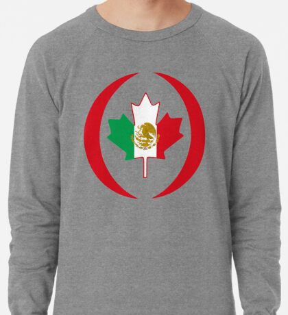 Mexican Canadian Multinational Patriot Flag Series Lightweight Sweatshirt
