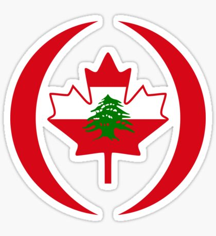 Lebanese Canadian Multinational Patriot Flag Series Sticker