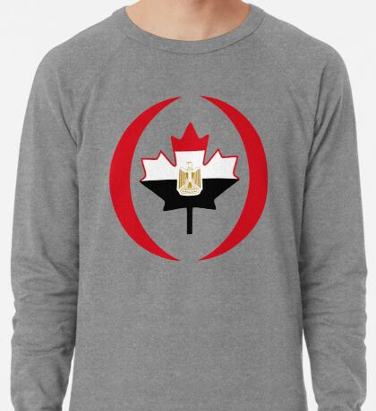 Egyptian Canadian Multinational Patriot Flag Series Lightweight Sweatshirt