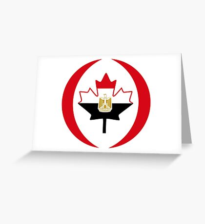 Egyptian Canadian Multinational Patriot Flag Series Greeting Card