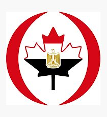 Egyptian Canadian Multinational Patriot Flag Series Photographic Print