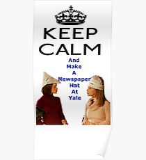 Gilmore Girls Newspaper Yale Hat Rory Poster