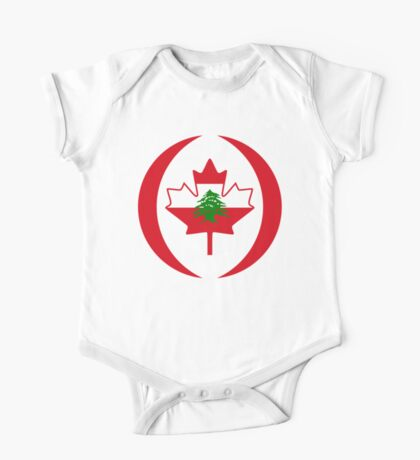 Lebanese Canadian Multinational Patriot Flag Series Kids Clothes