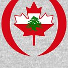 Lebanese Canadian Multinational Patriot Flag Series by Carbon-Fibre Media