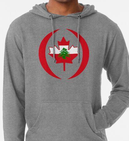 Lebanese Canadian Multinational Patriot Flag Series Lightweight Hoodie