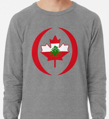 Lebanese Canadian Multinational Patriot Flag Series Lightweight Sweatshirt