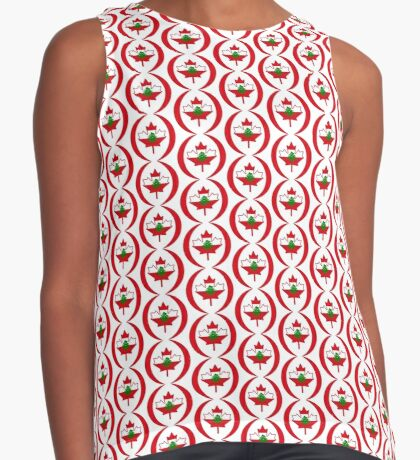 Lebanese Canadian Multinational Patriot Flag Series Sleeveless Top