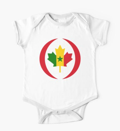 Senegalese Canadiain Multinational Patriot Flag Series Kids Clothes