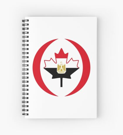 Egyptian Canadian Multinational Patriot Flag Series Spiral Notebook