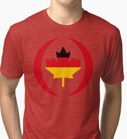 German Canadian Multinational Patriot Flag Series Tri-blend T-Shirt