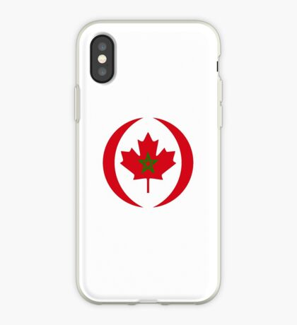 Moroccan Canadian Multinational Patriot Flag Series iPhone Case