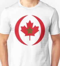 Moroccan Canadian Multinational Patriot Flag Series T-Shirt