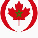 Moroccan Canadian Multinational Patriot Flag Series by Carbon-Fibre Media