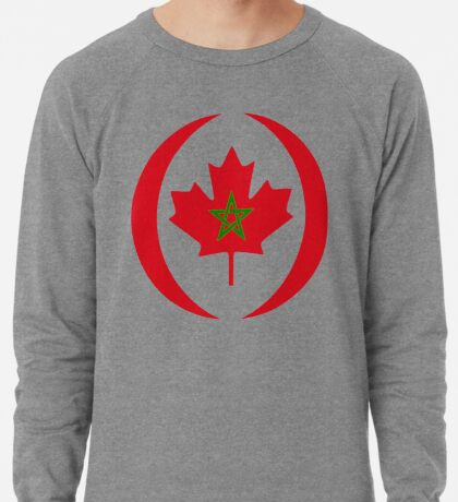 Moroccan Canadian Multinational Patriot Flag Series Lightweight Sweatshirt